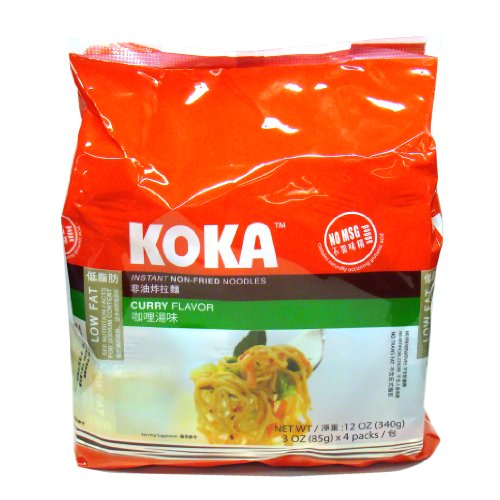 Koka Curry Flavor (Non-Fried Noodles), 85-Grams (Pack of 24)
