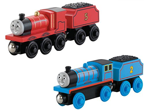 the Train Wooden Railway - James AND Edward The Blue Engine (Jet Engine Fuel)