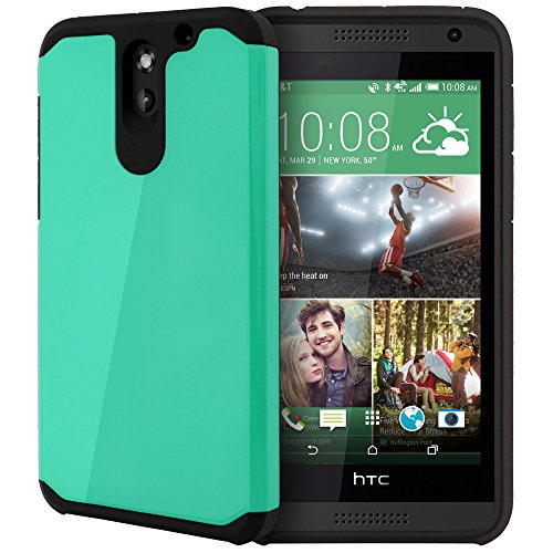 HTC Desire 610 Case, Celljoy [Liquid Armor] {Teal} HTC Desire 610 2014 Release Model Slim Fit Dual Layer Protective Hybrid **Shockproof** - Thin Hard Cover - Trident Htc Desire 610