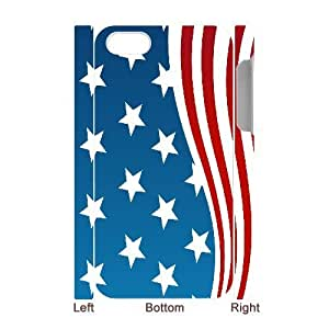 chen-shop design Iphone 4/4s 3D Bumper Plastic Case Of American Retro Flag ,customized case high XXXX