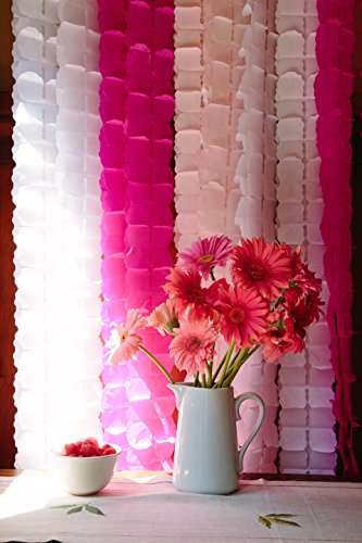 12 Hanging Honeycomb Garlands. Hot, Hot Pink. GREAT VALUE. Long, Lush & Dimensional Hanging Honeycomb Flower Garlands. Add EASY & INSTANT CHIC to Any Celebration. 12 feet long. by The Party Line