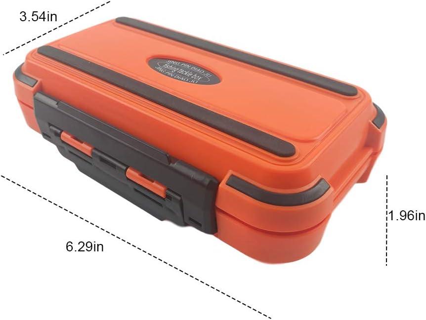 des Accessoires et de Bo/îte de mat/ériel de p/êche /à Double Face Bo/îte de Rangement pour /équipement de p/êche Portable /étanche pour Placer des hame/çons des leurres et des app/âts de p/êche
