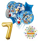 Mayflower Products Sonic The Hedgehog 7th Birthday Party Supplies and Balloon Decorations