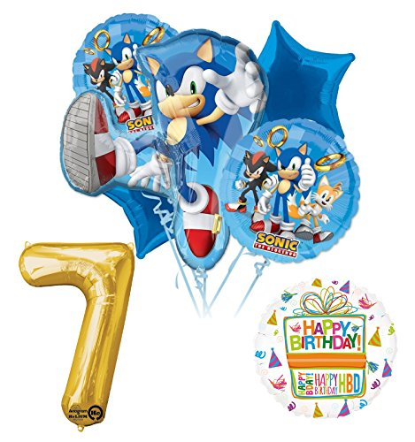 Mayflower Products Sonic The Hedgehog 7th Birthday Party Supplies and Balloon Decorations -