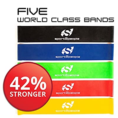Best Resistance Bands Loop Set ? Resistance Bands For Legs ? Exercise Bands For Legs ? Physical Therapy Bands ? Great Equipment For Your CrossFit Workout ? Eco-Friendly 5 In 1 Strength Bands w/Carry Bag Makes the Perfect Travel Buddy for Men & Women
