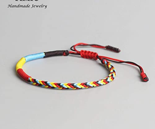 5543b3df4d09d Image Unavailable. Image not available for. Color  Lucky Handmade Bracelet  Tibetan ...