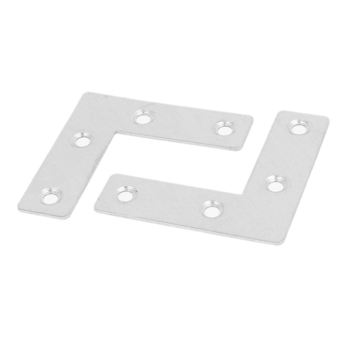 uxcell 50mm x 50mm x 1mm Stainless Steel L Shape Corner Brace Flat Mending Plate 100pcs a16063000ux0469