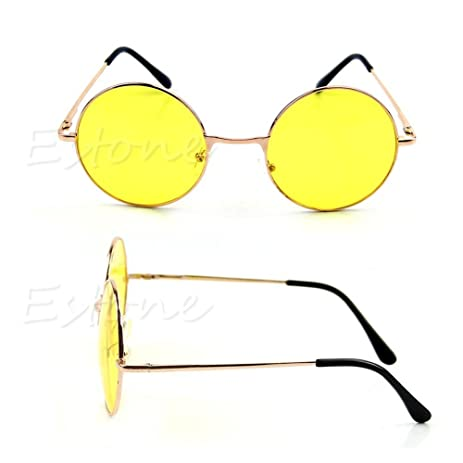 Amazon.com: Women Colorful Lens Sunglasses Eyewear Plastic Frame ...