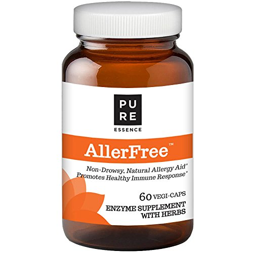 Pure Essence AllerFree - Natural Enzyme Allergy Relief Supplement- Non Drowsy - 60 Capsules (Best Home Remedies For Asthma Attacks)