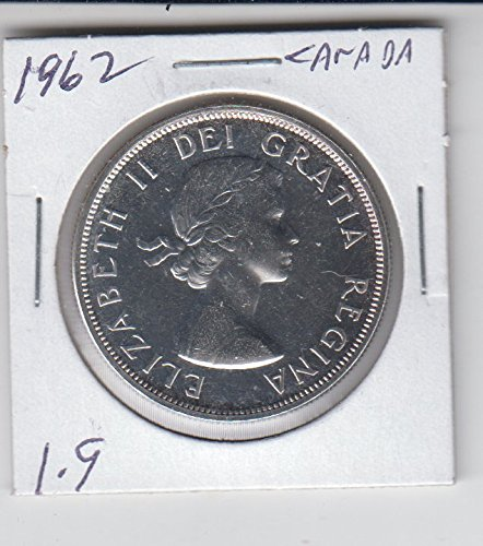 1962 Canada - Canadian Silver Dollar Coin Low Mintage $1 About Uncirculated