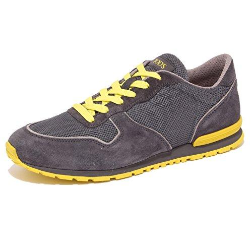 4292Q sneaker uomo TOD'S ACTIVE SPORTIVO grigio/giallo suede shoe men Grigio/Giallo