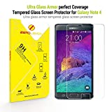 Samsung Galaxy Note 4 Screen Protector,ZeroLemon Ultra Glass Armor - 9H Premium Tempered Glass Screen Protector for Samsung Galaxy Note 4 - Full HD(Fits All Versions of  Galaxy Note 4)[Lifetime Replacement Warranty]