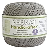 Bernat Handicrafter Crochet Thread, Solid, 3 Ounce, Misty Grey, Single Ball