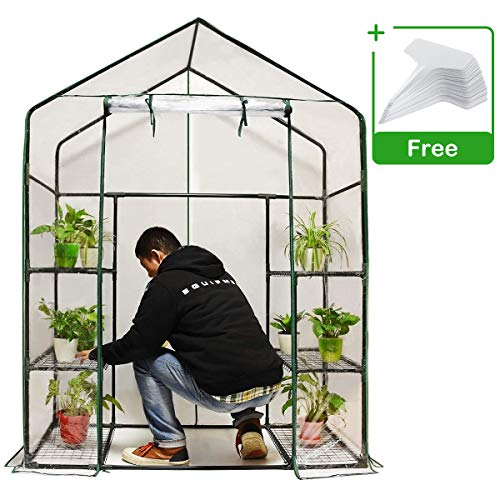 Quictent Mini Walk-in Greenhouse, 3 Tiers 6 Shelves Plants Garden Green House for Indoor Outdoor 56