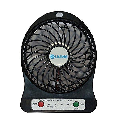 USB Mini Fan Portable Rechargeable Desktop Fan Powered by...