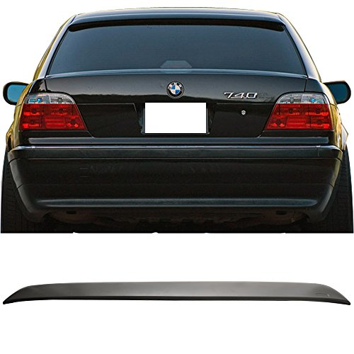 IKON MOTORSPORTS Roof Spoiler Fits 1995-2001 BMW 7 SERIES E38 4DOOR SEDAN | AC Style ABS Rear Deck Lip Wing - Series 7 Spoiler Roof