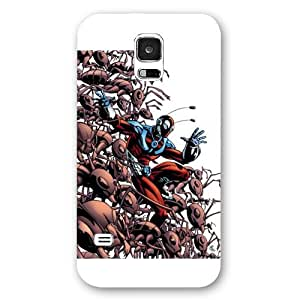 UniqueBox Customized Marvel Series Case for Samsung Galaxy S5, Marvel Comic Hero Ant Man Samsung Galaxy S5 Case, Only Fit for Samsung Galaxy S5 (White Frosted Case)