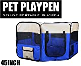 45 inch PET PUPPY DOG PLAYPEN EXERCISE PEN KENNEL