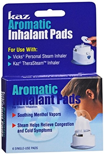 Kaz Aromatic Inhalant Pads 6 Each (Pack of 5)