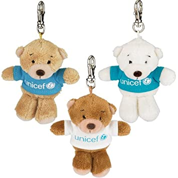 UNICEF Petit Bear Key Chain Set of 3 (japan import)