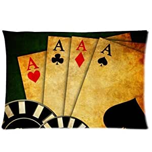 LarryToliver You deserve to have Poker Cards (3) Pillowcase - 2 Way cloth 20 X 30 inch the best pillow case (one side print)