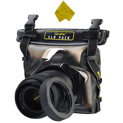 DiCAPac Waterproof Case for Canon Nikon Sony Olympus Panasonic Pentax SLR Digital Camera (For Large DSLR) by HDStars