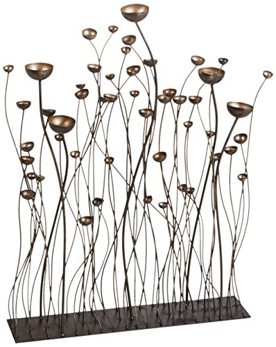 Design Toscano Prairie Grasses Metal Sculpture, Bronze