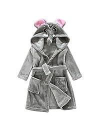 Vine Child Bathrobe Hooded Pajamas 3D Cartoon Animal Towel For Boys Girls Sleepwear