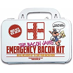 Emergency Bacon Kit - Includes Red Chili & Black Pepper Bacon Jam, Bacon Salt, And Maple Bacon Rub In A Giftable First Aid Case