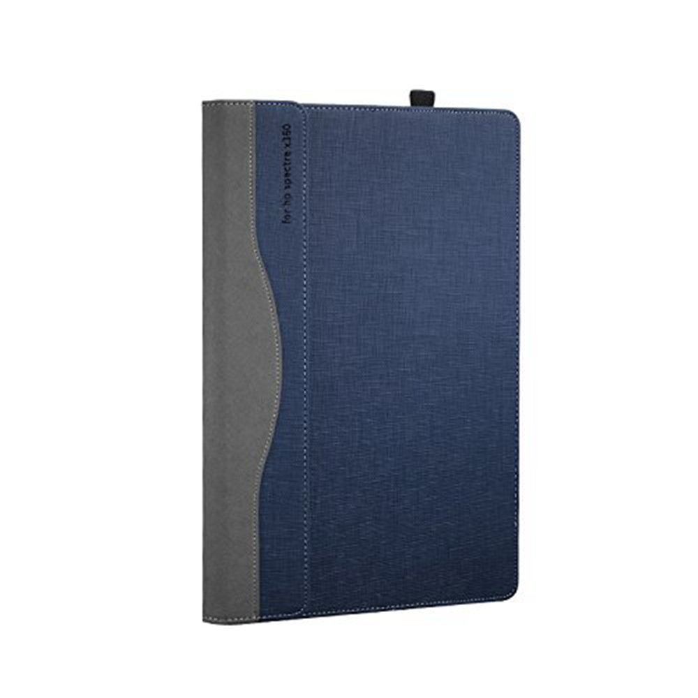 Hp Spectre X360 13.3 Inch Case ( Not Fit HP Spectre Series ), PU Leather Folio Stand Hard Cover for Hp Spectre 13.3'' 2 in 1 Laptop Sleeve, Blue by Veker (Image #6)