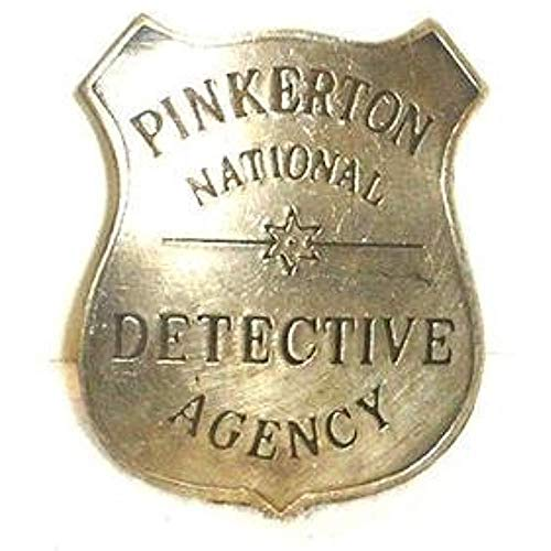 Pinkerton Detective Agency Obsolete Old West Police Badge -
