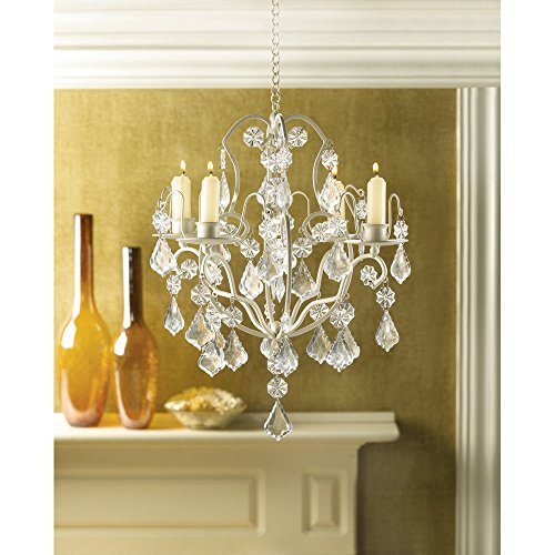 Crystal Chandelier Lighting Ivory Baroque Acrylic Hanging Candle Holder Wedding! -by# Great_bargains1, UGEIO26401034440731