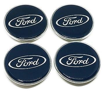 Tapas originales para centro de llantas de coches Ford, 4 unidades: Amazon.es: Coche y moto