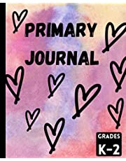 Primary Journal Grades K-2 Half Page Ruled Draw and Write: Kindergarten Grade 1 Grade 2 Primary Journal 100 Pages Ruled and Blank space for drawing and writing practice. Early creative story book for children