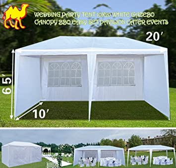 strong camel wedding party tent 10x20 white gazebo canopy bbq easy set pavilion cater events bbq wedding tent