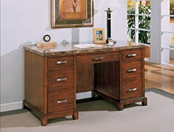 Top Home Office Desk With Faux Marble Top With Marble Top Desk.