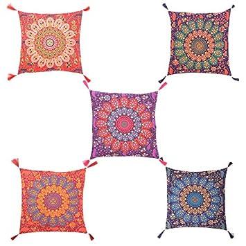 Amazon.com: Tanya Handicrafts Funda de cojín de algodón ...