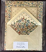 Medicea 21 Piece Florentine Writing Paper Set with 24k Goldleaf Hand Applied Accents Imported From Florence Italy