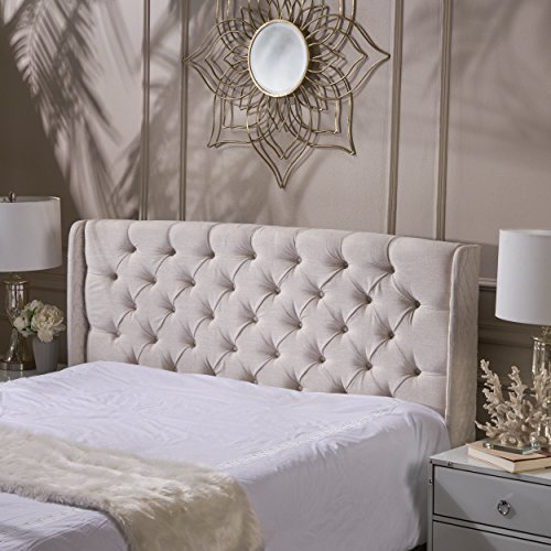 Review Lidia Tufted Fabric Headboard