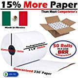 3 1 8 x 230 Thermal Receipt Paper POS Cash Register 50 Rolls BPA Free Made in Mexico from BuyRegisterRolls