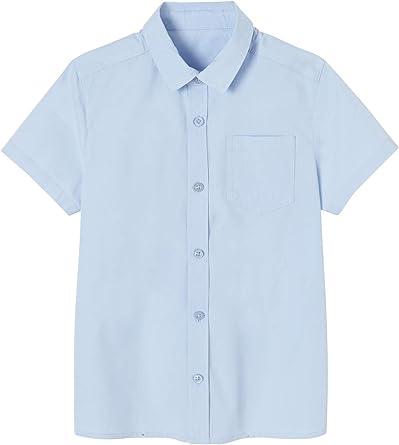 VERTBAUDET Camisa Lisa de Manga Corta, para niño Azul Claro Liso 3A: Amazon.es: Ropa y accesorios