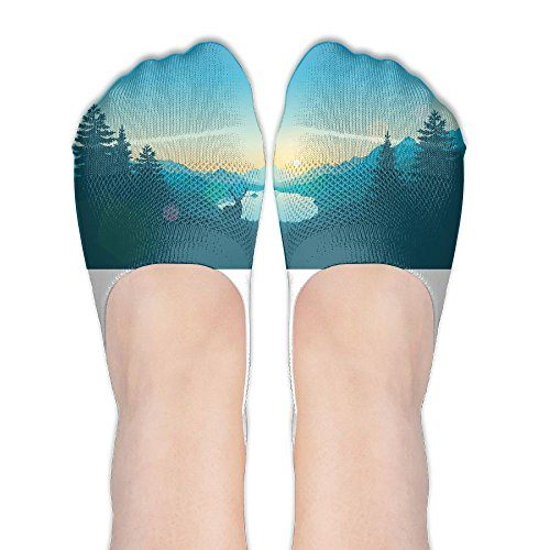 Firewatch Game Athletic Fashion Polyester Cotton Socks Footies Sneakers Sports Socks No Show (Shrub Halloween Costume)