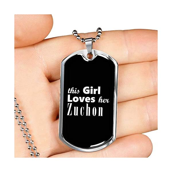 Zuchon v2 - Luxury Dog Tag Necklace Lover Owner Mom Birthday Gifts Jewelry 3