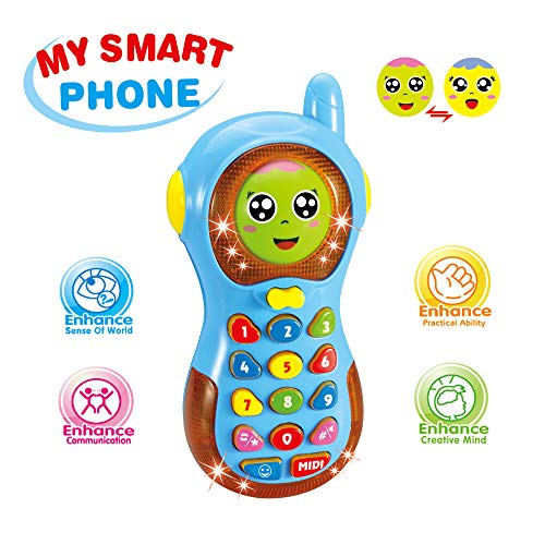 Baby Toys Phone 6 Months, Toys for 1-3 Year Old Baby Boys Girls Gift Phone for 3-12 Months Girl Boy Kids Phone Toy for 9-18 Month Baby Toy Age 1 2 Baby Toddlers Birthday Gift Baby