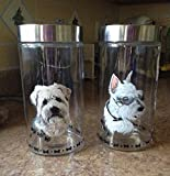 Hand-Painted Glass Treat Jar YOUR DOG
