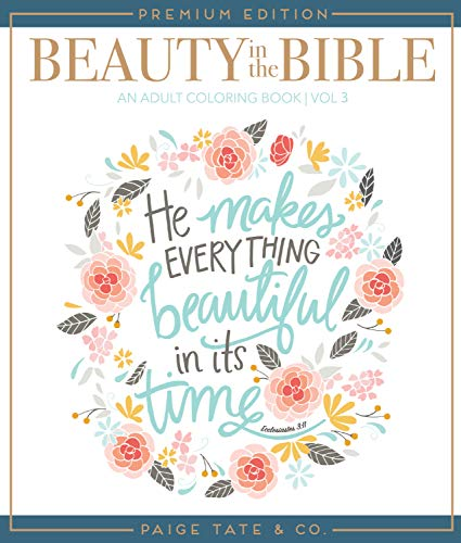 Beauty in the Bible: Adult Coloring Book Volume 3, Premium Edition (Christian Coloring, Bible Journaling and Lettering: Inspirational Gifts) (Best Gel Pen In India)