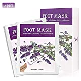 Lavender Exfoliating Foot Peeling Mask 2 Pairs Scented Peel Booties for Callus Dead Skin, Get Soft Touch Smooth Feet in 1 Week