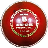 cm Inspired Practice Ball - Grade B Cricket Ball, Red