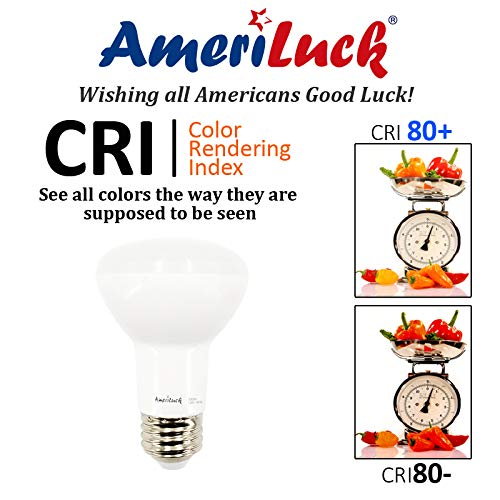 AmeriLuck 10 Pack BR20 LED Flood Light Bulb, Dimmable, 7W (50W Equiv.), 5000K Daylight
