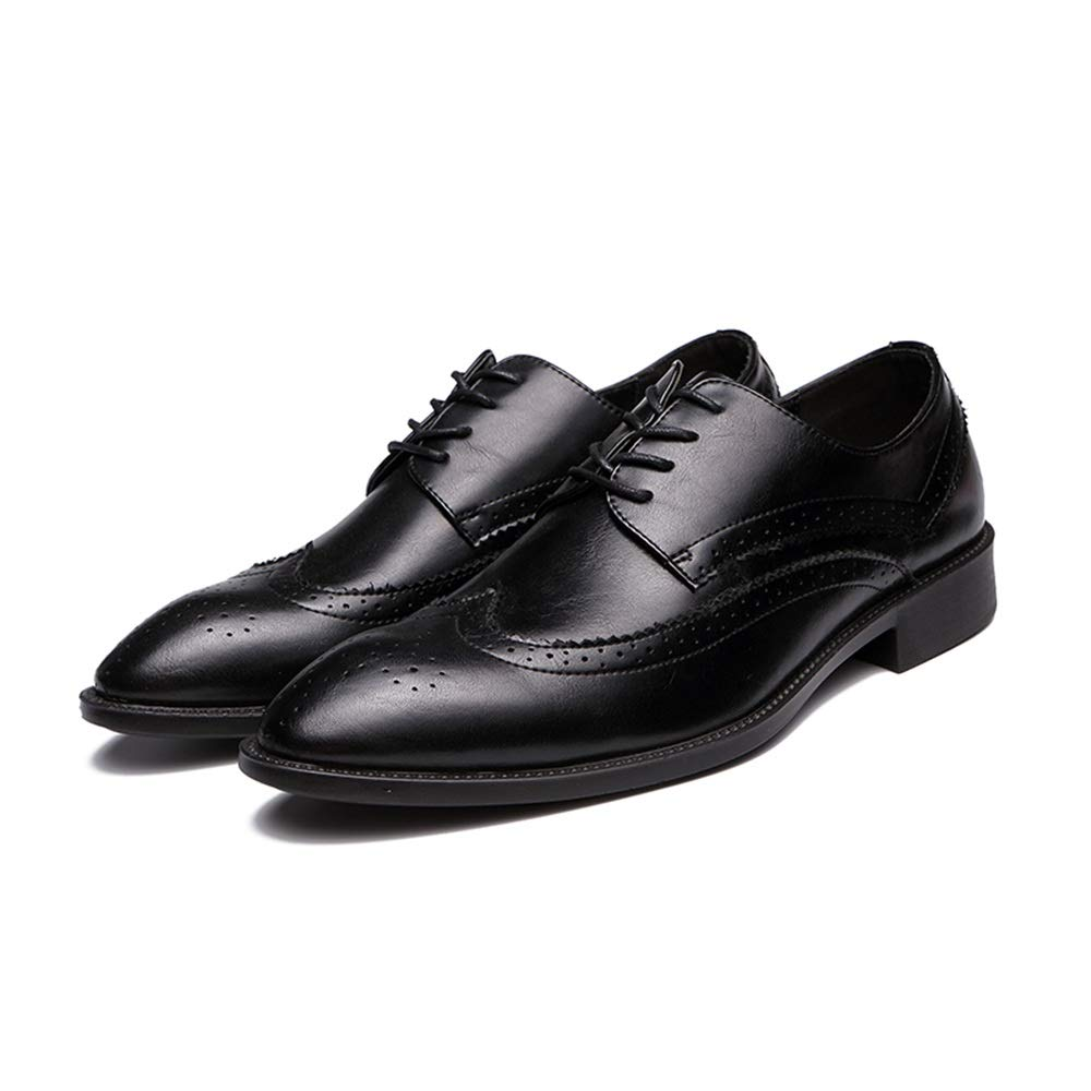 HYF Mens Fashion Oxford Casual Comfortable Light Classic Carving Brogue Shoes Fashion Slipper Business Shoes for Men